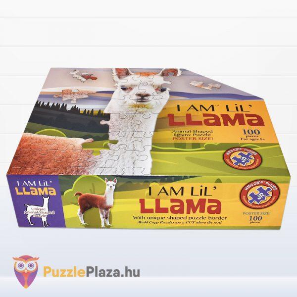 100 darabos poszter méretű láma forma puzzle doboza fektetve. Wow Toys