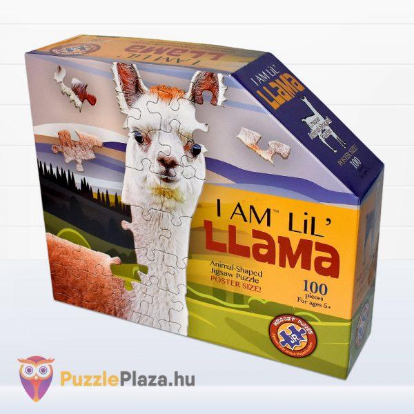 100 darabos poszter méretű láma forma puzzle doboza jobbról. Wow Toys