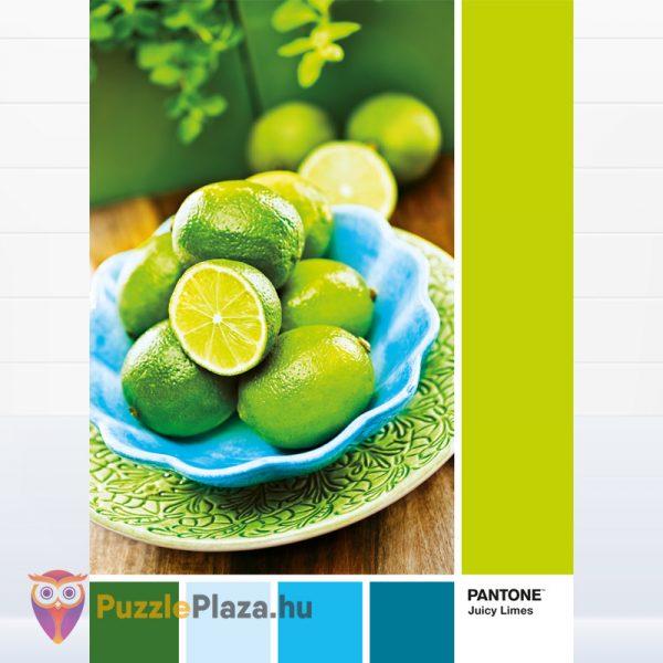 1000 darabos lédú lime: Pantone 382 puzzle kirakott képe. Clementoni 39492