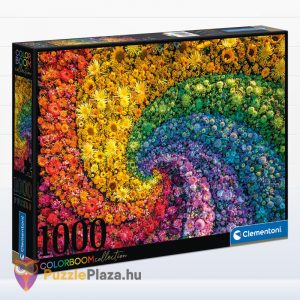 1000 darabos örvény virágokból puzzle, a ColorBoom Collection egyik tagja. Clementoni 39594