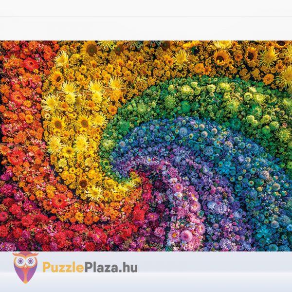 1000 darabos örvény virágokból puzzle kirakó képe, a ColorBoom Collection egyik tagja. Clementoni 39594