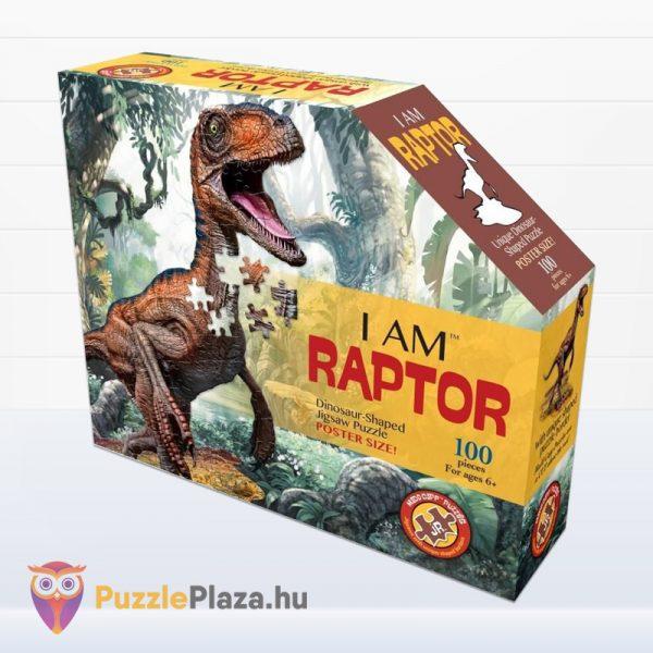 100 darabos raptor forma puzzle doboza előről - Wow Toys