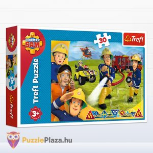 30 darabos Sam, a tűzoltó puzzle - Segítségre készen - Trefl 18244
