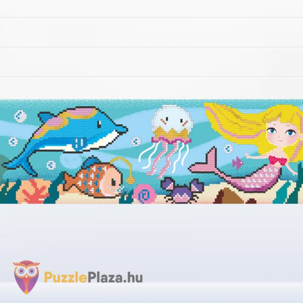 10000+ darabos pixel art kép a víz alatti világról. Pixel technicka képkirakó készlet kirakott képe