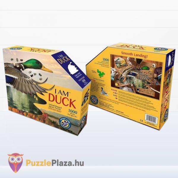 1000 darabos vadkacsa forma puzzle doboza előről, hátulról. Wow Toys