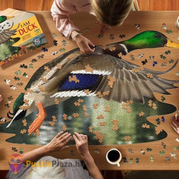 1000 darabos vadkacsa forma puzzle kirakózás közben. Wow Toys
