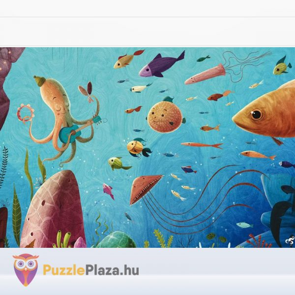 108 darabos a zenész mester állatos puzzle kirakott képe - Lis Ludattica Wonderful Puzzle