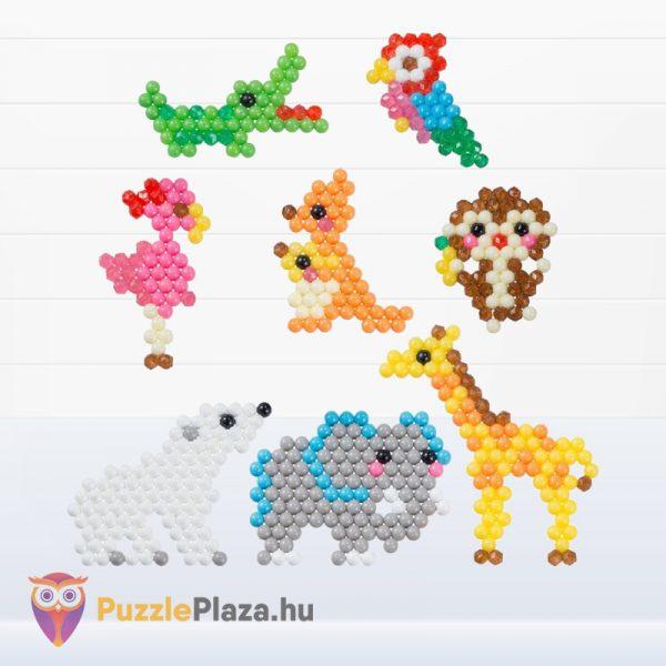 Aqua Beads kezdő szett elkészített gyöngy figurák