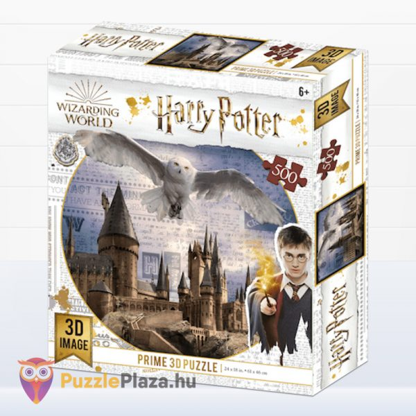 500 darabos Harry Potter 3D puzzle - Roxfort és Hedwig doboza