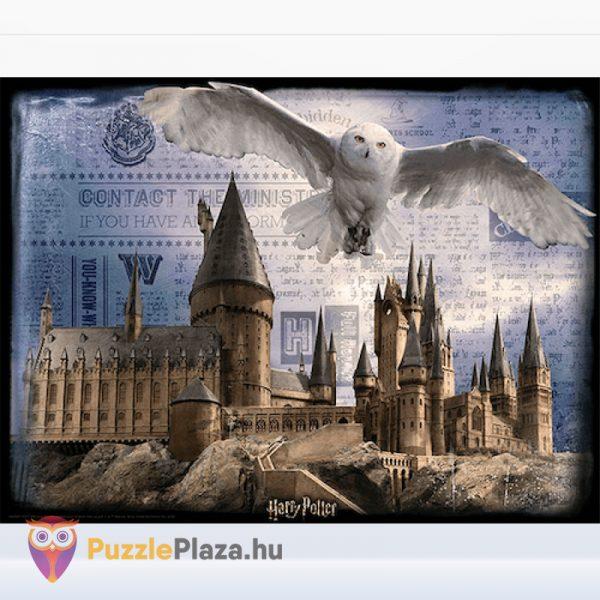 500 darabos Harry Potter 3D puzzle - Roxfort és Hedwig kirakott képe