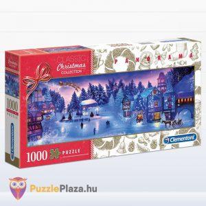 1000 darabos karácsonyi álom panoráma puzzle - Clementoni 39582
