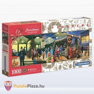 Télapó karácsonyi express vonata panoráma puzzle - Clementoni 39577
