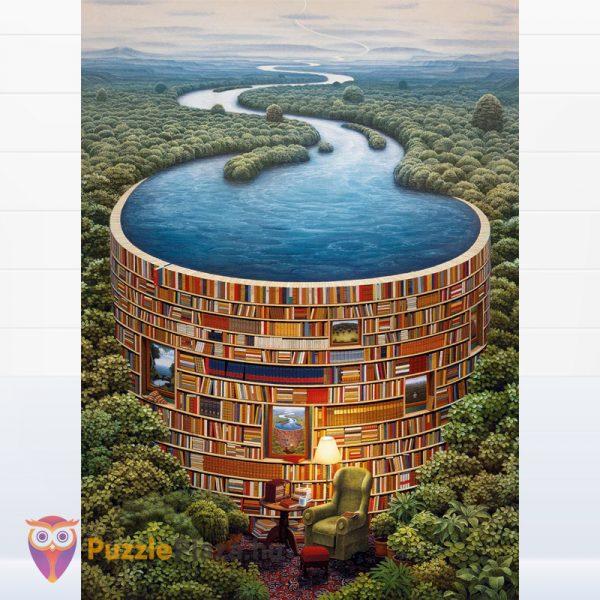 1000 darabos bibliodame puzzle kirakott képe. Clementoni 39603