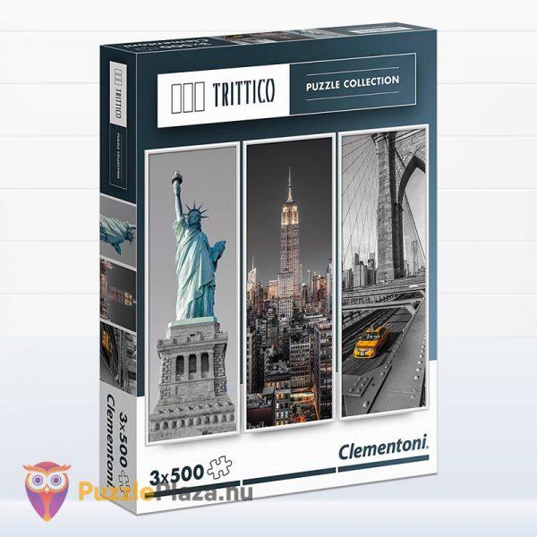 3x500 darabos New York puzzle - Trittico Collection, Clementoni 39305