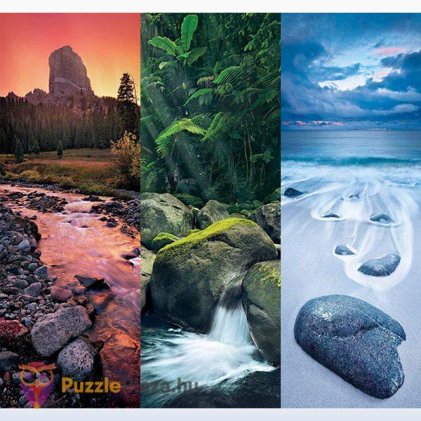 3x500 darabos természet puzzle kirakott képe - Trittico Collection, Clementoni 39800