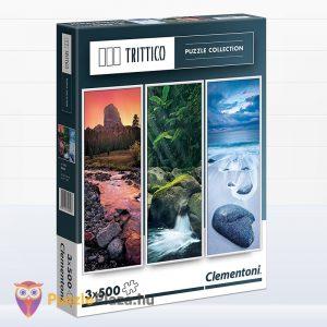 3x500 darabos természet puzzle - Trittico Collection, Clementoni 39800