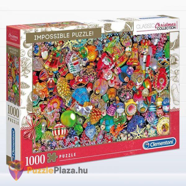 1000 darabos vidám Karácsony lehetetlen puzzle - Clementoni 39585 (Christmas Edition)