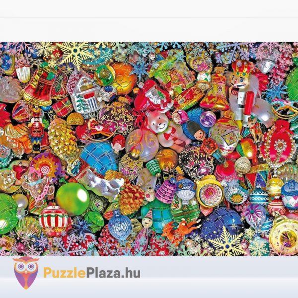 1000 darabos vidám Karácsony lehetetlen puzzle kirakott képe - Clementoni 39585 (Christmas Edition)